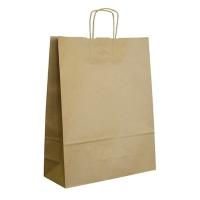 Papírová taška s krouceným uchem - 33x12x50 cm, standartní dno, hnědá