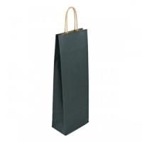 Papírová taška na víno - 14x8x39 cm, tmavě modrá