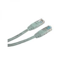 UTP kabel Logo - kategorie 5e, RJ45, 1 m, nestíněný, šedý