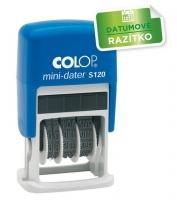 Razítko datumovka Colop mini-dater S120 - výška otisku 4 mm, samonamáčecí