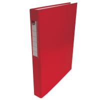 Čtyřkroužkový pořadač A4 - hřbet 3,5 cm, lamino, červený