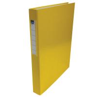 Čtyřkroužkový pořadač A4 - hřbet 3,5 cm, lamino, žlutý