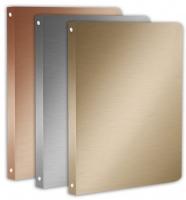 Čtyřkroužkový pořadač A4 Metallic - hřbet 2 cm, plastový, stříbrný