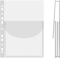 Prospektový obal na katalogy s klopou Donau - A4, lesklý, 170 my, transparentní, 1 ks