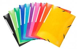 Spisové desky s gumou A4 Exacompta Iderama - 3 klopy, voděodolné, fialové - DOPRODEJ