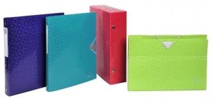 Aktovky na dokumenty A4 Exacompta Offix - s gumou, plastová, 6 kapes, mix  barev