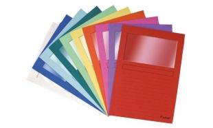 Zakládací obal s oknem Exacompta Forever L - A4, mix barev, 10 ks