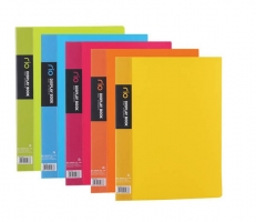 Katalogová kniha Deli Rio E5033 - A4, plastová, 30 kapes, hřbet 18 mm, žlutá