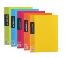 Katalogová kniha Deli Rio E5033 - A4, plastová, 30 kapes, hřbet 18 mm, růžová