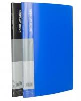 Katalogová kniha Deli E38144 - A4, plastová, 10 kapes, hřbet 8 mm, modrá