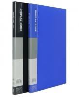 Katalogová kniha Deli E38145 - A4, plastová, 20 kapes, hřbet 14 mm, modrá