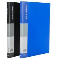 Katalogová kniha Deli E38146 - A4, plastová, 30 kapes, hřbet 18 mm, černá
