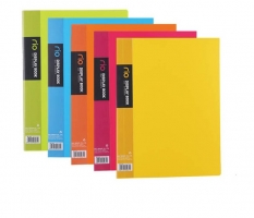 Katalogová kniha Deli Rio E5032 - A4, plastová, 20 kapes, hřbet 14 mm, žlutá
