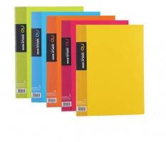 Katalogová kniha Deli Rio E5034 - A4, plastová, 40 kapes, hřbet 24 mm, žlutá