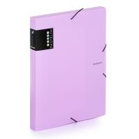 Box na spisy A4 Pastelini - s gumou, plastový, fialový