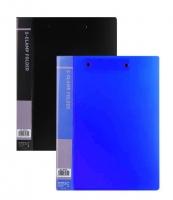 Dvojdeska s double klipem Deli CLASIC EB30102 A4 - plastová, černá - DOPRODEJ