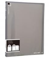 Katalogová kniha Deli Aurora EB02422 - A4, plastová, 20 kapes, kouřová