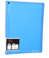 Katalogová kniha Deli Aurora EB02532 - A4, plastová, 30 kapes, modrá