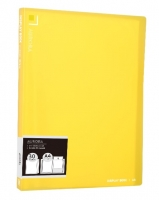 Katalogová kniha Deli Aurora EB02532 - A4, plastová, 30 kapes, žlutá