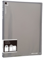 Katalogová kniha Deli Aurora EB02622 - A4, plastová, 40 kapes, kouřová