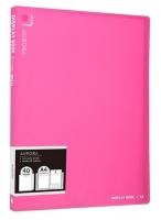 Katalogová kniha Deli Aurora EB02622 - A4, plastová, 40 kapes, růžová