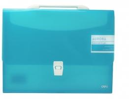 Aktovka na dokumenty Deli Aurora EB50432  - A4, plastová, 1 kapsa, modrá