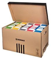 Archivační box Donau - 565x370x315 mm, hnědý/hnědý