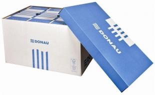 Archivační box Donau - 522x351x305 mm, bílý/modrý