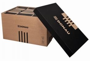 Archivační box Donau - 522x351x305 mm, hnědý/hnědý