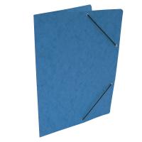 Spisové desky s gumou - bez klop, prešpán, modré