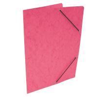 Spisové desky s gumou - bez klop, prešpán, růžové