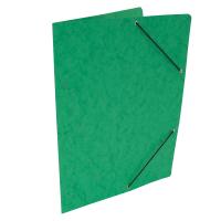 Spisové desky s gumou - bez klop, prešpán, zelené