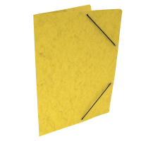 Spisové desky s gumou - bez klop, prešpán, žluté
