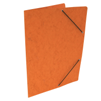 Spisové desky s gumou - bez klop, prešpán, oranžové