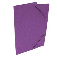 Spisové desky s gumou - bez klop, prešpán, fialové