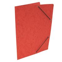 Spisové desky s gumou - bez klop, prešpán, červené