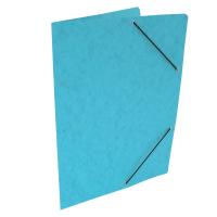 Spisové desky s gumou - bez klop, prešpán, světle modré