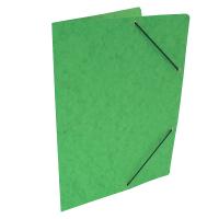 Spisové desky s gumou - bez klop, prešpán, světle zelené