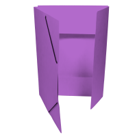 Spisové desky s gumou - 3 klopy, prešpán, fialové