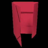 Spisové desky s gumou - 3 klopy, prešpán, červené