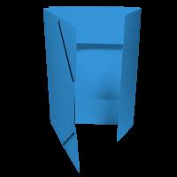 Spisové desky s gumou - 3 klopy, prešpán, světle modré