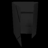 Spisové desky s gumou - 3 klopy, prešpán, černé