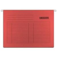 Závěsná papírová deska Donau - A4, 230 g/m2, červená