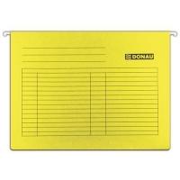 Závěsná papírová deska Donau - A4, 230 g/m2, žlutá