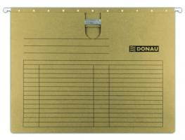 Závěsná papírová deska s rychlovazačem Donau - A4, 230 g, hnědá