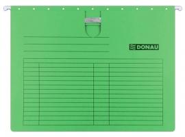 Závěsná papírová deska s rychlovazačem Donau - A4, 230 g/m2, zelená