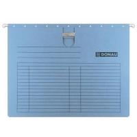 Závěsná papírová deska s rychlovazačem Donau - A4, 230 g/m2, modrá