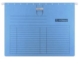 Závěsná papírová deska s rychlovazačem Donau - A4, 230 g, modrá