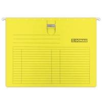 Závěsná papírová deska s rychlovazačem Donau - A4, 230 g/m2, žlutá