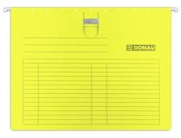 Závěsná papírová deska s rychlovazačem Donau - A4, 230 g, žlutá
